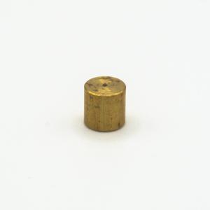 Finale cilindrico ottone grezzo Ø6 x h6 mm - foro M3