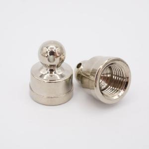 Finale nikelato 14x18 - M10x1 con foro laterale 1.5 mm