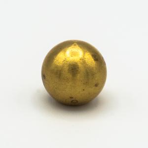 Finale ottone grezzo a sfera Ø14 mm foro interno M6