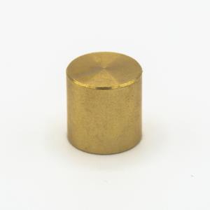 Finale ottone grezzo Ø13 x h13 mm - M10x1 cilindrico