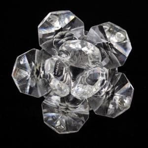 Fiore in cristallo corolla esterna cristallo e centrale cristallo. Attacco filetto M6