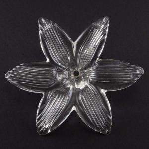 Fiore in vetro Murano artigianale in cristallo, Ø 15 cm con foro centrale