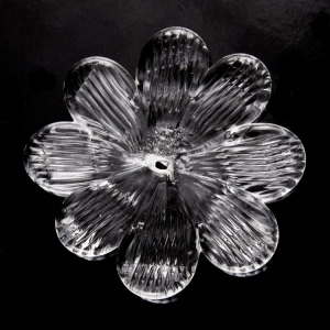 Fiore Ø90 mm in vetro Murano veneziano cristallo.