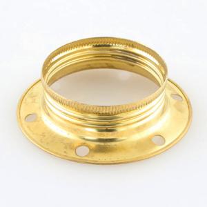 Ghiera E27 metallica ottonata per portalampada