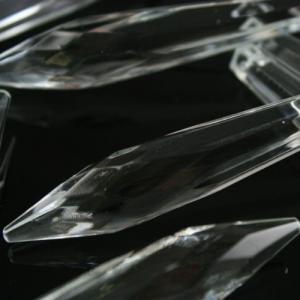 Goccia 76 mm pendente prisma sfaccettata, vetro cristallo veneziano