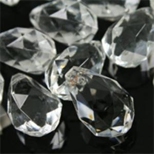 Goccia drop 18 mm cristallo vetro veneziano sfaccettato