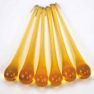 Goccia pendente 16 cm vetro di Murano ambra miele