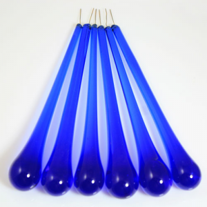 Goccia pendente 16 cm vetro di Murano blue zaffiro