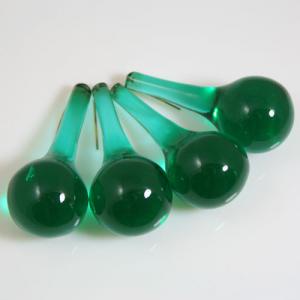 Goccia rotonda 55 mm in vetro Murano verde scuro