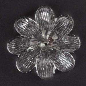 Grande fiore rosetta fatta a mano in vetro di Murano cristallo Ø90 mm