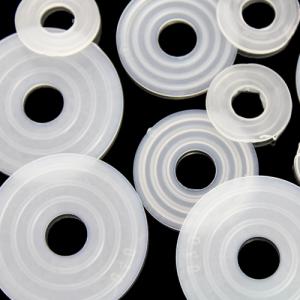 Guarnizione rondella gommino Ø40 mm foro interno 10 mm PVC colore neutro