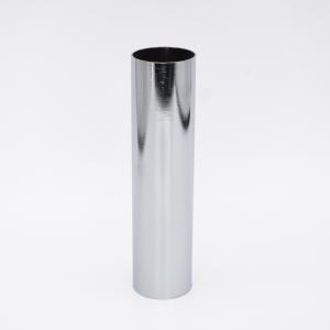 Guscio copri porta-lampada E14 cromo lucido liscio h 120 mm