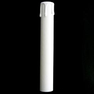 Guscio copri porta-lampada E14 guscio, finta candela in cartone h 180 mm