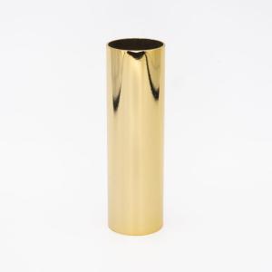 Guscio Ø26x100mm cover copri portalampada metallico oro lucido