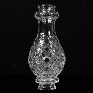 Infilaggio a bottiglia in vetro cristallino, altezza 16,5 cm