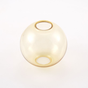 Infilaggio sfera Ø80 mm vetro di Murano color ambra