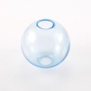 Infilaggio sfera Ø80 mm vetro di Murano color turchese