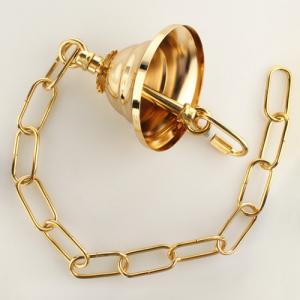 Kit catena 65 cm oro per lampadario compreso rosone a soffitto e minuterie metalliche.