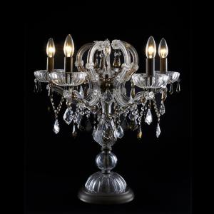 Lampada da tavolo tipo candelabro cristallo stile Maria Teresa 6 luci