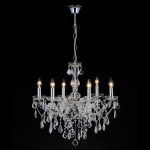Lampadario cristallo 5 luci stile Maria Teresa con pendagli