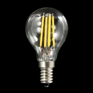 Lampadina con 6 strisce Led COB lineari, attacco E14, 6W 230V, luce calda 3000K.