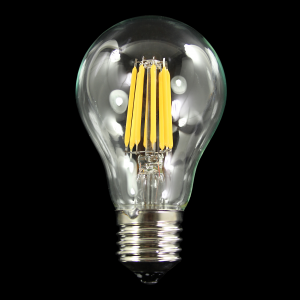 Lampadina con strisce Led COB lineari, attacco E27, 10W 230V, luce naturale 4000K.