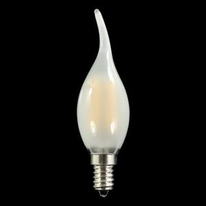 Lampadina E14 4W 230V 3000K satinata con 4 chip Led COB lineari luce calda