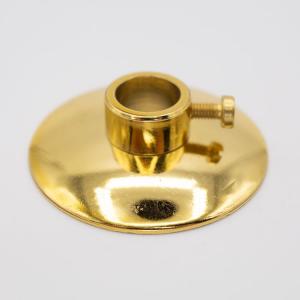 Lente Ø40 oro lucido + anello a pressione con foro Ø11 mm per canna da 10 mm