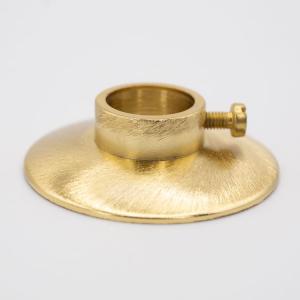 Lente Ø40 oro spazzolato + anello a pressione con foro Ø11 mm per canna da 10 mm