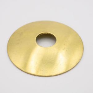 Lente ottone grezzo Ø40 mm foro centrale 10 mm