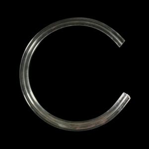 Listello in vetro a C 100 mm di diametro interno.