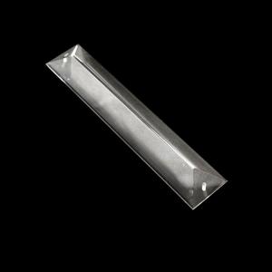 Losanga 150 mm baguette in cristallo molato con doppio foro.