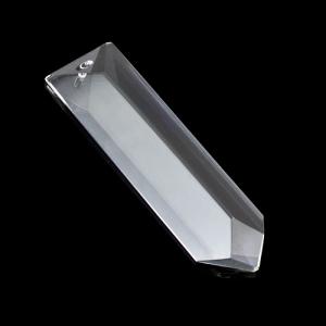 Losanga a punta 76 mm cristallo molato con foro passante.