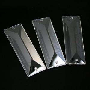 Losanga baguette 63 mm doppio foro cristallo Asfour Pb 30% -Asfour 610-