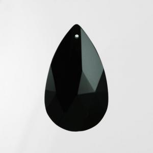 Mandorla pendente 28 mm vetro cristallo molato nero
