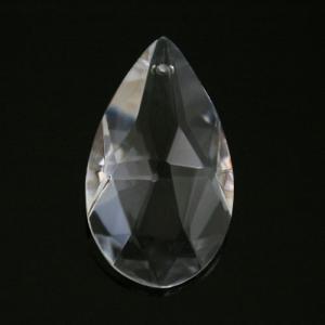 Mandorla pendente 38 mm cristallo vetro molato colore puro taglio classico