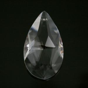 Mandorla pendente 50 mm cristallo vetro molato colore puro taglio classico