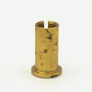 Manicotto bicchierino ottone grezzo per bloccafilo M10x1 + uscita laterale