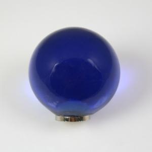 Maniglia pomello sfera blu Ø25 vetro di Murano con filettatura M4 femmina