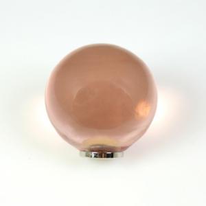 Maniglia pomello sfera rosa antico Ø20 vetro di Murano con filettatura M4 Femmina