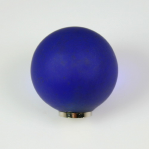 Maniglia pomello sfera satinata blu zaffiro Ø25 vetro di Murano con filettatura M4 femmina