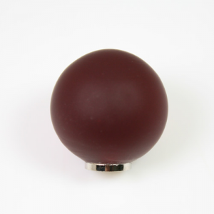 Maniglia pomello sfera satinata rossa Ø20 vetro di Murano con filettatura M4 Femmina