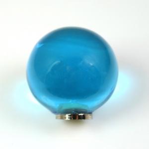 Maniglia pomello sfera turchese Ø25 vetro di Murano con filettatura M4 femmina