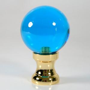 Maniglia pomello sfera turchese Ø50 vetro di Murano rocchetto oro.