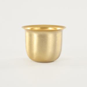 Mezzo bicchierino E27 oro spazzolato Ø40 mm foro 10mm per portalampada lampadari