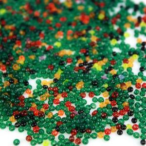Mix perline di conteria 2.5 mm giallo-verde-rosso e nero