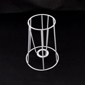 Montatura per paralume 12x8x12 cm finitura bianca con attacco per ghiera E14