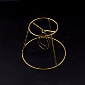 Montatura per paralume 14x8x11 cm con finitura dorata e attacco a molla