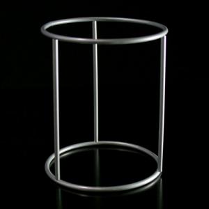 Montatura per paralume da tavolo a cilindro H 12 x 10 cm, finitura cromata.