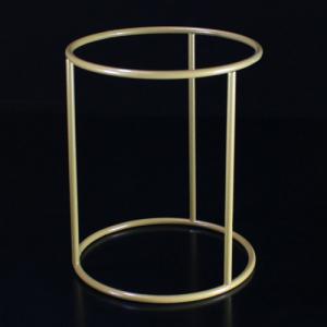 Montatura per paralume da tavolo a cilindro H 12 x 10 cm, finitura dorata.